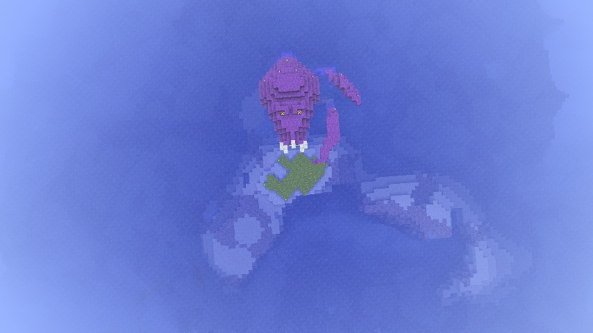 Kraken I was working on! Mouth actually went down into a hideout :D
