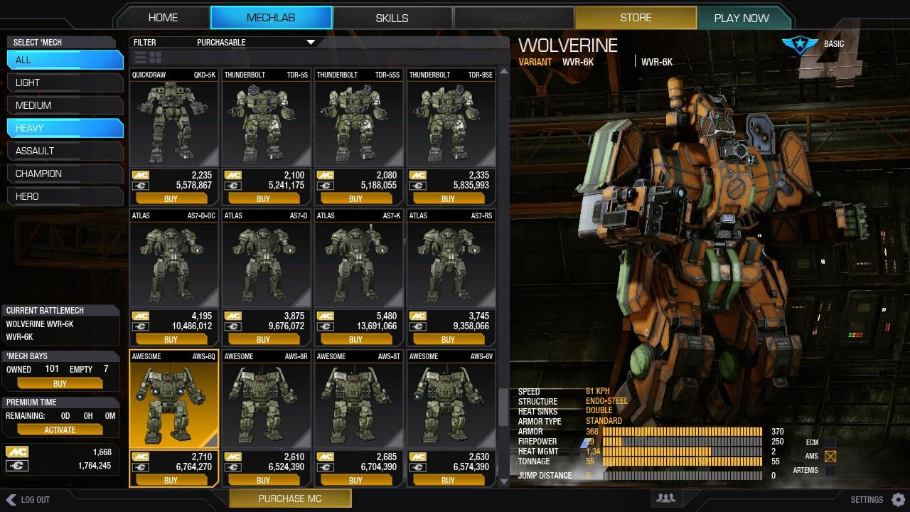 Mwo mech bay slots procter and gamble employees federal credit union